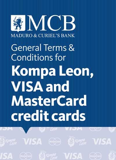 Kompa Leon, Visa and MasterCard credit card General Terms & Conditions